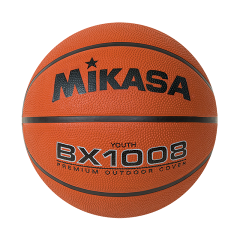 "MIKASA JUNIOR SIZE RUBBER BASKETBALL 27.5"" BX1008"